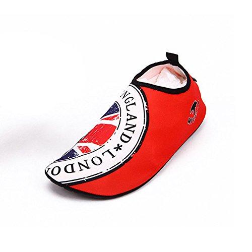 Neeiors slip on a piedi nudi acqua scarpe leggero Aqua calzini per beach surf piscina Swim yoga Red