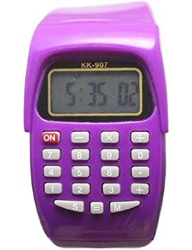 8-stelliges Taschenrechner Kinder Kids Uhren Digital LCD Armbanduhr für junge Mädchen ws @ ktw907z