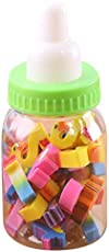 GAZEPO Erasers for Pupils Erasers in Mini Clear Plastic Feeding Bottle Rubber Toy for Children