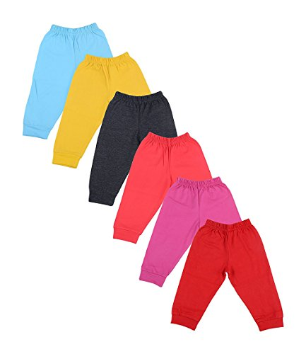Baby Care Kids Soft Cotton Track Pants with Ribs, Pack of 6 (9-12)Months