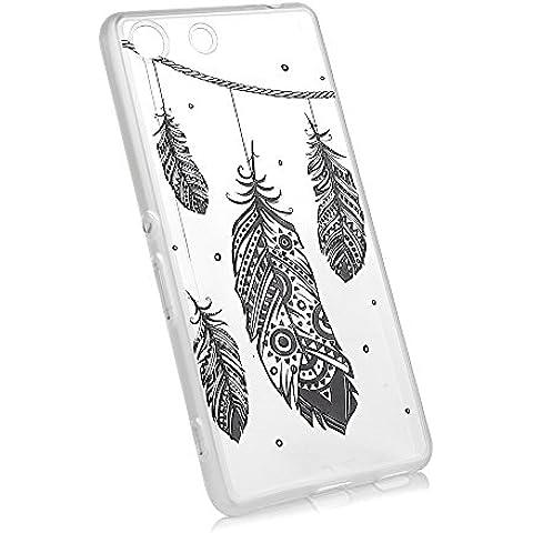 Sony Xperia Mobile M5 Funda, YOKIRIN TPU Alivio Borde Mate Cover Case Cáscara Ultra Slim Moviles Libres Pintado Protective Protectora