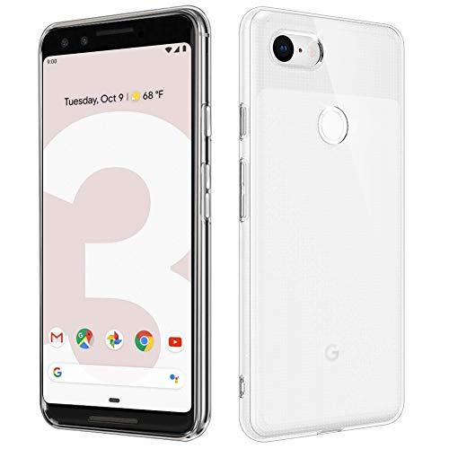 RHESHINE Google Pixel 3 Hülle, Transparent Soft TPU Silikon Handyhülle Durchsichtige Schutzhülle Flex Case Ultra Dünn Kratzfeste Kristall Phone Case Cover für Google Pixel 3