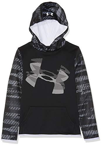 Fleece-sport-shirt (Under Armour Jungen Fleece Hoody Oberteil, Schwarz, YXL)