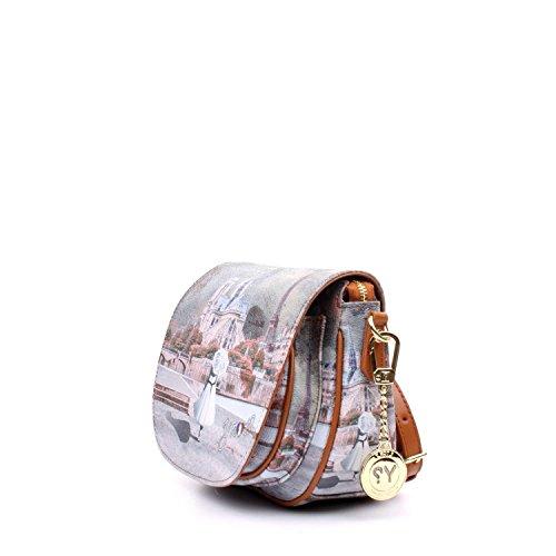 Borsa A Tracolla I-353 Da Donna, Colore Marrone 22x17x12,5 Cm