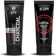 Beardo Activated Charcoal Peel Off Mask And Beardo Charcoal Face Wash Combo (Set of 2)