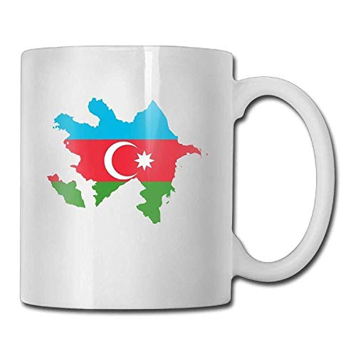 Flag Map Of Azerbaijan Personalized Tea Mugs - Add Pictures, Logo, Or Text To Our Custom Mugs