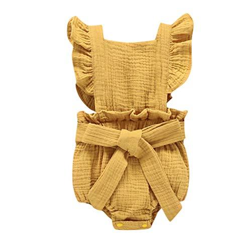 Pwtchenty Strampler FüR Baby Briefdruck Sleeveless Playsuits Sommerkleid Overall Jumpsuit Karneval Halloween MäDchen Freizeit ()
