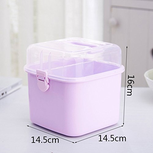 MMM Family Medicine Box First Aid Kit Portable Health First Aid Box Stockage Box Trompette ( Couleur : Violet )