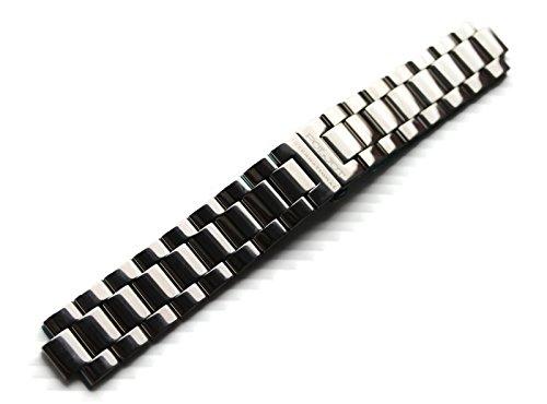 Uhren-Armband Metallband 22mm massiv Edelstahl poliert Anstoß halbrund Faltschließe POLJOT