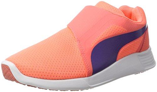 Puma Unisex-Kinder ST Trainer Evo AC Jr Sneaker, Orange (NRGY Peach-Prism Violet), 38 EU