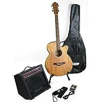 Acústica/Guitarra Western Natural & Amplificador & accesorio