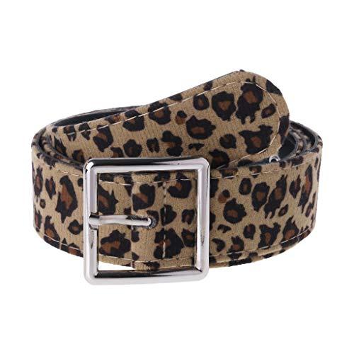 ZOOMY Vestido de Mujer Correa Cinturones Cinturones Estampado de Leopardo Accesorios de Vestir Femeninos Decoración Ajustable para niñas - Cuadrado