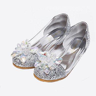 Wuyulunbi@ Mädchen Cinderella Glass Slipper Princess Crystal Schuhe Weichen Boden Kleidung Schuhe Leder Schuhe Schuhe Princess Leistung