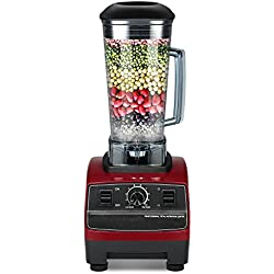 Decdeal Standmixer Profi Smoothie Maker Küche Blender mit 45.000 U/min, 2200W, 6 Klingen Edelstahlmesser 2 Liter