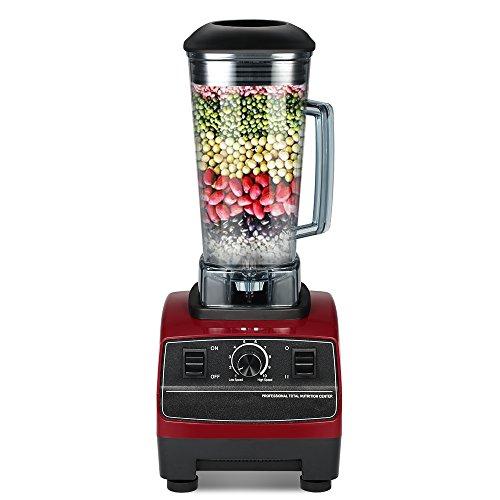 Decdeal Standmixer Profi Smoothie Maker Küche Blender mit 45.000 U/min, 2200W, 6 Klingen Edelstahlmesser 2 Liter (2000-watt-ups)