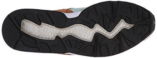 Puma R698 Allover Suede Shoe Trinomic Chipmunk Brown-Fair Aqua-Wht