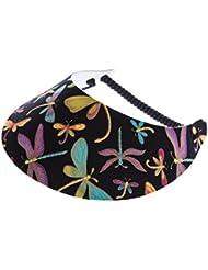 """XFORE visière soleil """"Handa"""" casquette de golf sport tennis pour femmes avec motif de la libellule, taille unique"""