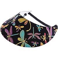 xfore Golfwear XFORE visera de golf Handa para mujer con diseño de libélulas, talla única