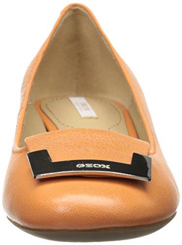 Geox orange-d52 v8a carey, escarpins femme Orange  - Orange