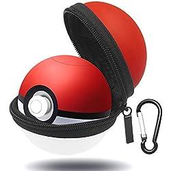 EEEKit portátil Funda de Transporte para Nintendo Switch Poke Ball Plus Controller Eevee Game Bag con Llavero