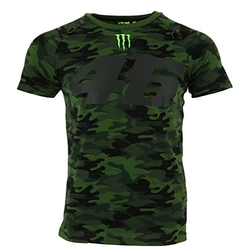 Valentino Rossi VR46 Moto GP Monster Camp Edition Camo T-shirt Offiziell 2018 -