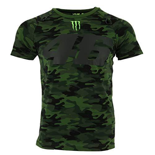 Valentino Rossi VR46 Moto GP Monster Camp Edition Camo Camiseta Oficial 2018