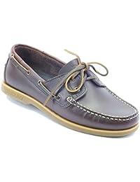 Zapatillas para hombre modelo barco Lumberjack piel, color marrón