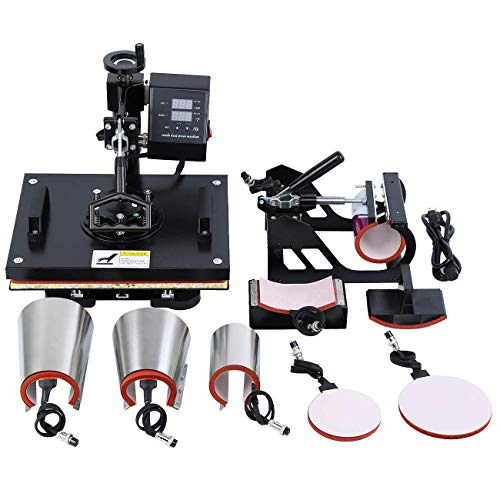 MuGuang Upgrade 8IN1 Hitze Presse Maschine Sublimation Transfer Swing Away Maschine T-Shirt Cup Hut Becher Druckmaschine - Becher-hitze-presse