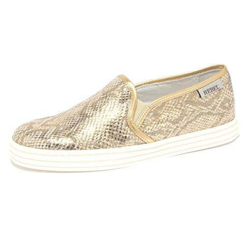 7918Q sneaker donna HOGAN REBEL slip-on oro shoe woman [38.5]