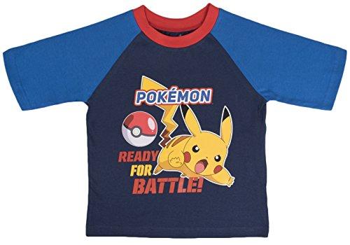 "Image of Boys Pokemon Short Pyjamas ""Ready For Battle"" 9-10"