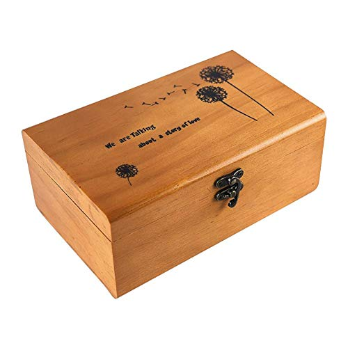 soundwinds Holz Nähen Box Nähen Korb Mit Zubehör Retro Style Holz Sewing Kit Speicherorganisator Korb für Home Travel
