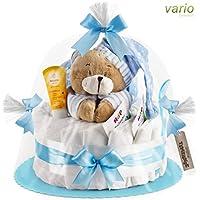 Timfanie® Windeltorte | Spieluhr (1-stöckig/baby-blau) vario