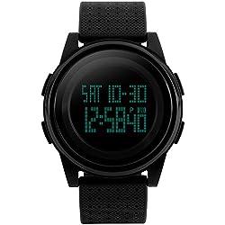 E-future SKMEI 8mm Ultrathin Men's LCD Digital Multifunctional Sport Watch 5ATM Waterproof