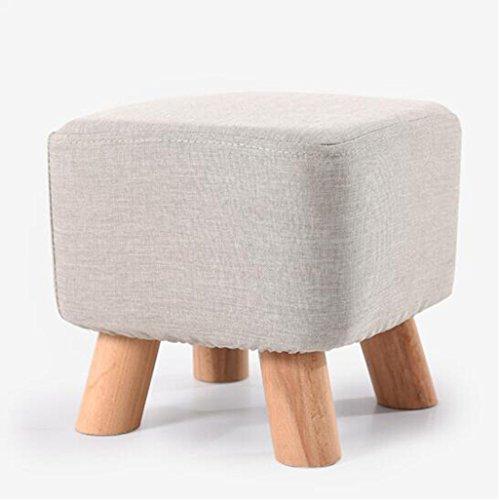 tabouret en bois Tabouret en bois massif de quatre pieds/strass carré de tissu, tabouret de canapé de tabouret de chaussure (Couleur : B)