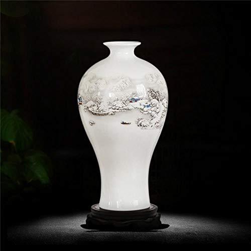 andschaft Vase Alte Weisen Jingdezhen Keramik Vase Für Künstliche Blumendekoration Vasen, 5 ()