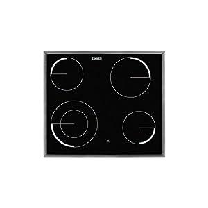 Zanussi ZEV6041XBA hobs Negro Integrado Cerámico – Placa (Negro, Integrado, Cerámico, Vidrio y cerámica, 750 W, 12 cm)