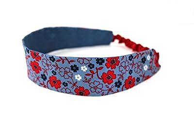 Bandeau femme imprimé liberty bleu et rouge