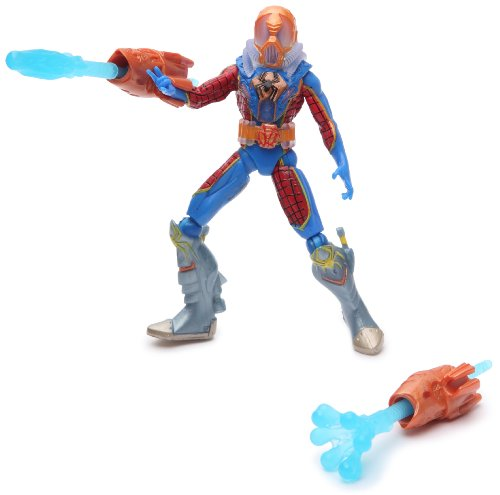 Spiderman Hasbro Figuras acción 9 cm Deep Lanzador de Red acuático - Figura articulada con Accesorios y 3 Cartas coleccionables