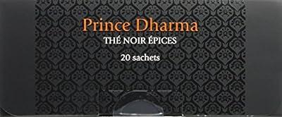PAGÈS Thé Noir Epices Prince Dharma 20 Sachets 40 g - Lot de 4