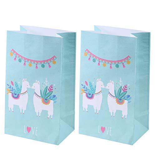 Amosfun 12pcs Kraft Paper Bags Geschenk Süßigkeiten Taschen Gunst Taschen Alpaka Papiertüten für Cinco de Mayo mexikanische Fiesta Hochzeit Geburtstag Baby Shower Party Taschen supllies