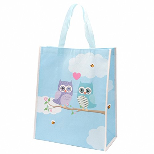 Cute love owls design durable shopping bag