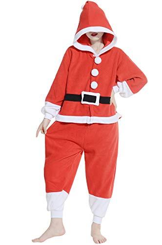 Pyjama Tier Cosplay Weihnachtsmann Cartoonstil Animal Kigurumi Plüsch für Erwachsene ()