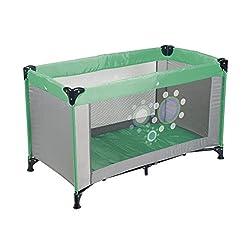 Reisebett grau/grün