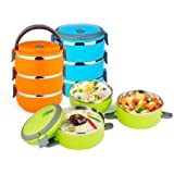 TAGORE Stainless Steel 3 Container Lunch Box 3 Containers Lunch Box For School/Office /College
