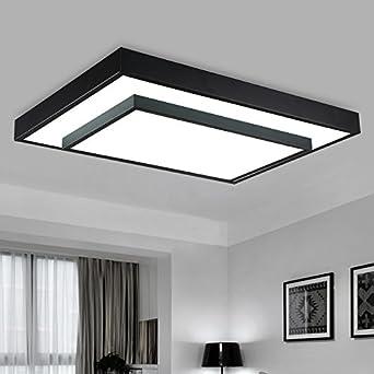 Led Zimmer Lampe Rechteckige Stimmungsvolle Minimalistische Moderne  Stilvolle Schmiedeeisen Schlafzimmer Lampe Deko Acryl,63 * 40Cm Weiß Licht:  Amazon.de: ...
