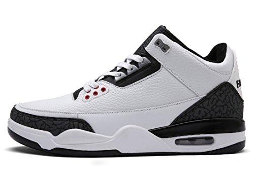 TDA , Chaussons montants homme blanc/noir