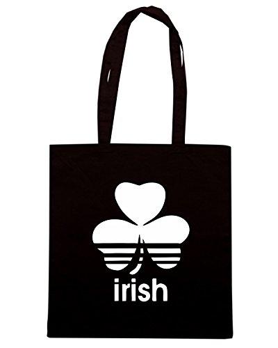 T-Shirtshock - Borsa Shopping TIR0216 vintage irish logo tshirt Nero
