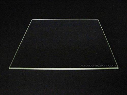 Placa de vidrio de borosilicato de 300 mm x 300 mm con borde pulido plano para impresora 3D