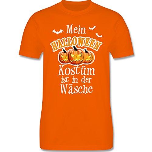 Halloween - Mein Halloween Kostüm ist in der Wäsche - XXL - Orange - L190 - Herren Premium T-Shirt (Sportliche Halloween Kostüme)