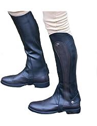 GS Equestrian Mujer Sintético Barton Print Chaps/–Polainas, tamaño grande), color negro